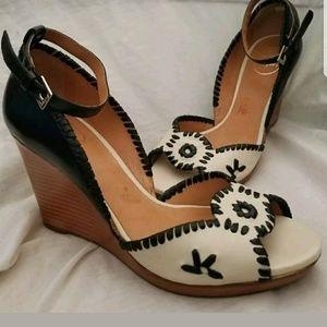 Jack Rogers sandal 8.5 M Chrystie bone ivory black